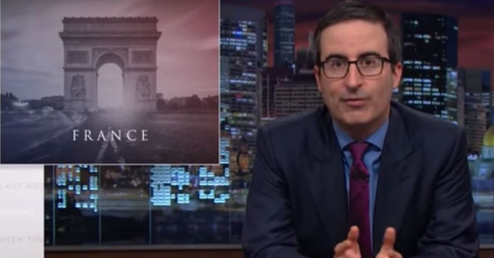John Oliver Honors France With a Moment of 'Premium Cable Profanity'