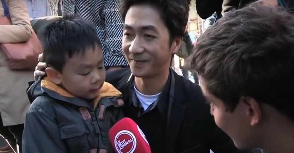 Father and Son Have a Touching Conversation About the Paris Attacks