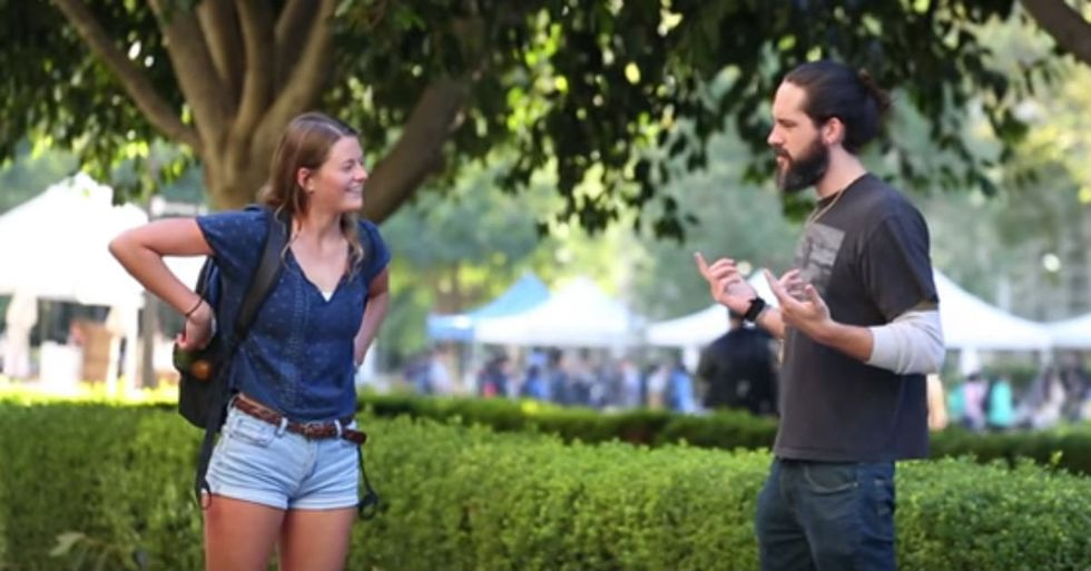 Guy Shows What Would Happen if Kissing Pranks Targeted Real People