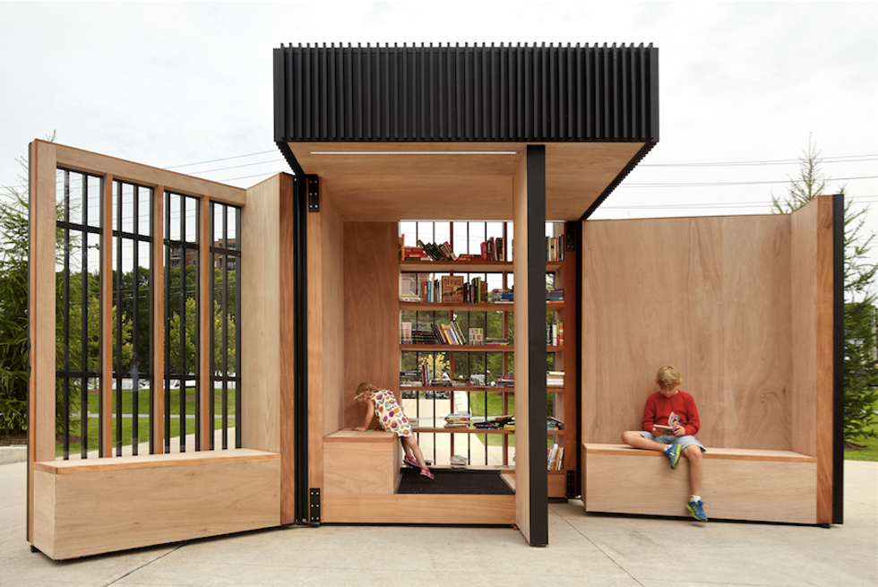 This Lovely Little Pop-up Library Is Powered by the Sun
