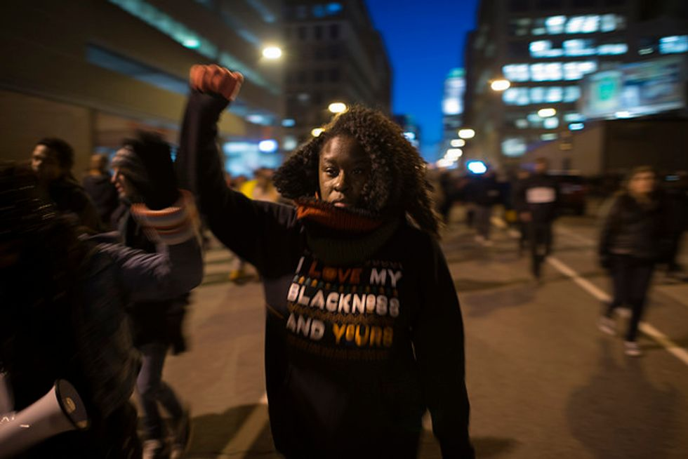 A Tense, Determined Night in Minneapolis After Protest Shooting