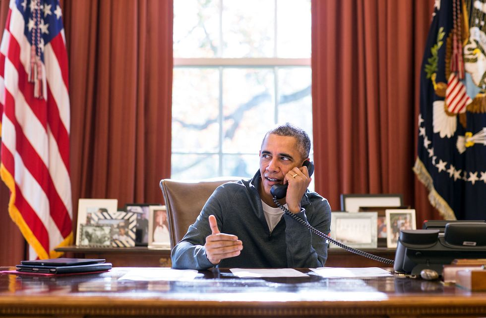 Obama Uses Thanksgiving Mythology to Advocate for Syrian Refugees in Holiday Message