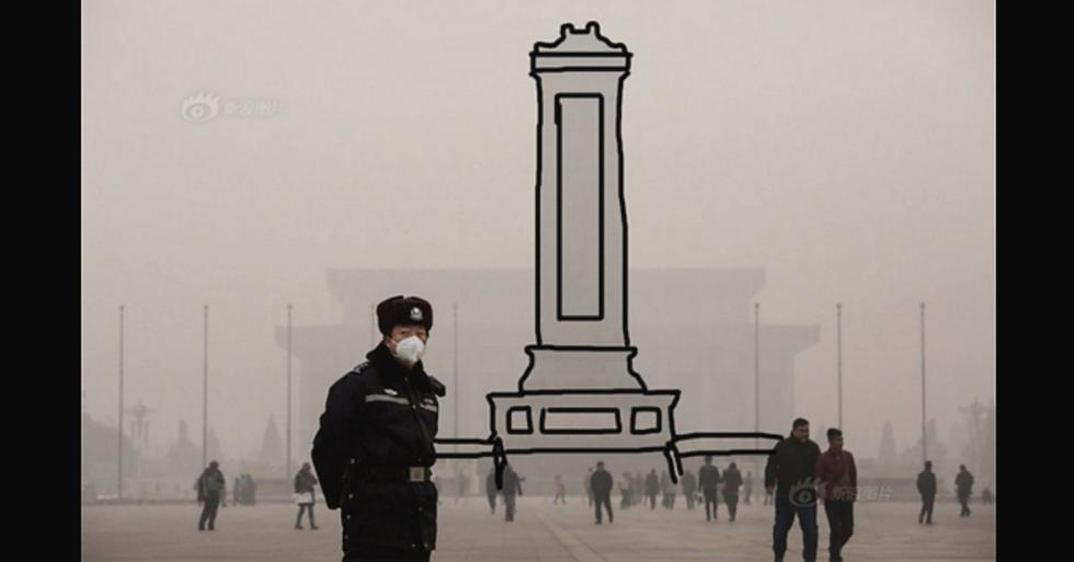 Beijing's Smog Problem Is So Bad, Social Media Users Have to Outline Landmarks