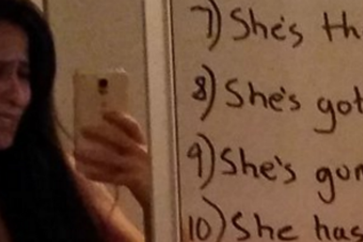 Supportive husband writes a fantastic 'love list' to his depressed wife