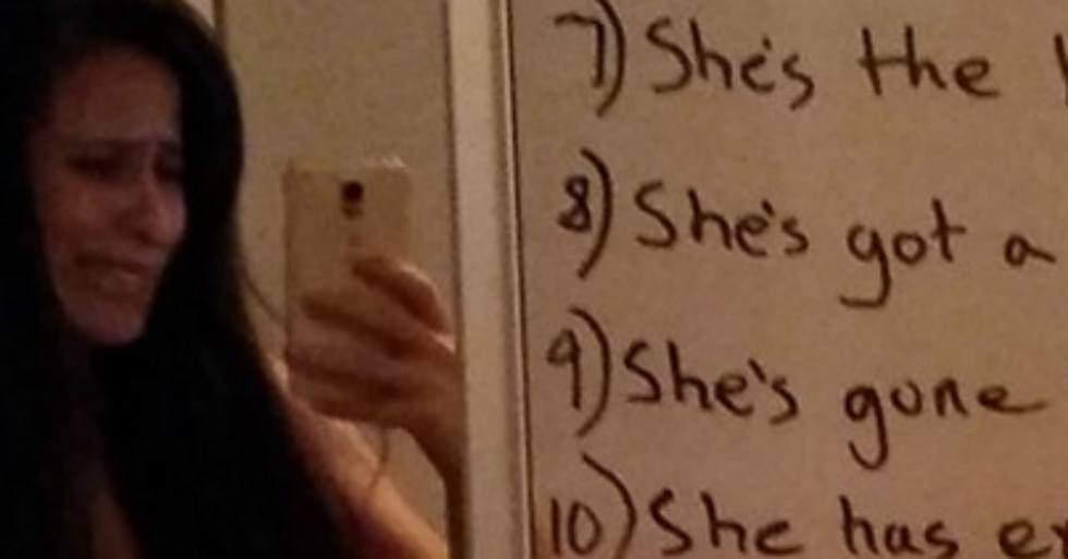 Supportive Husband Writes a Fantastic Love List to His Depressed Wife