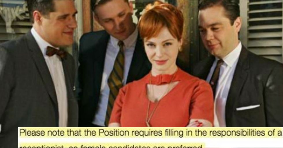 Sexist Job Posting Calls for Receptionist Duties: 'Female Candidates Preferred'