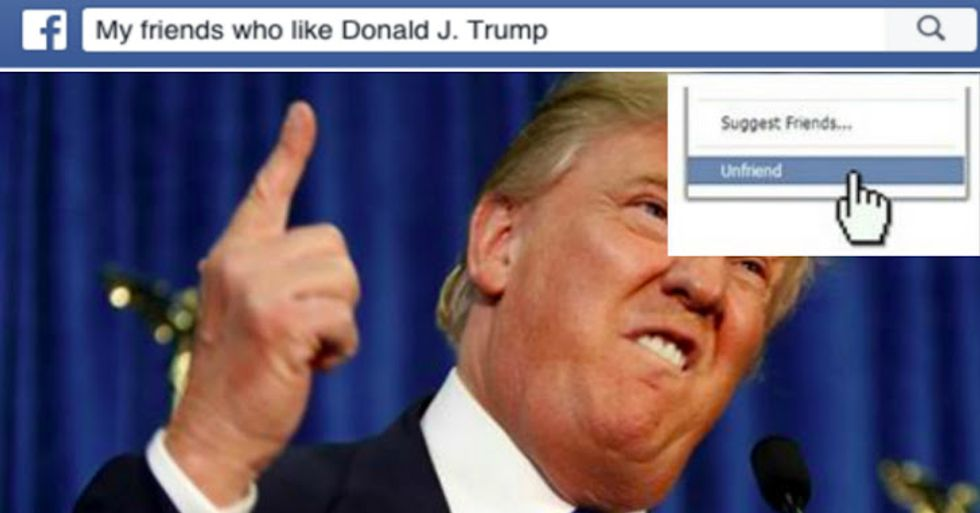 New Site Shows Which of Your Facebook Friends Support Donald Trump