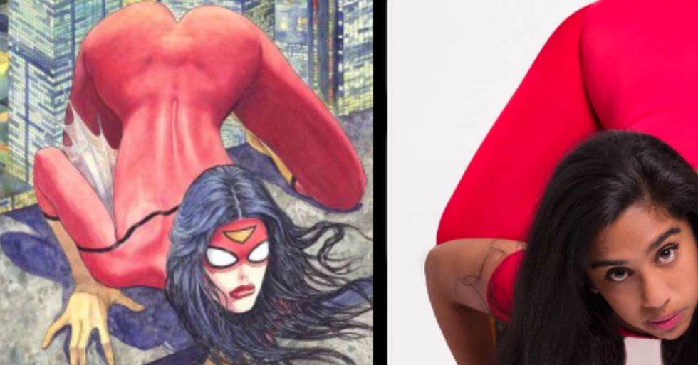 Women Attempt Comic Book Hero Poses to Make a Point About Body Images in the Media