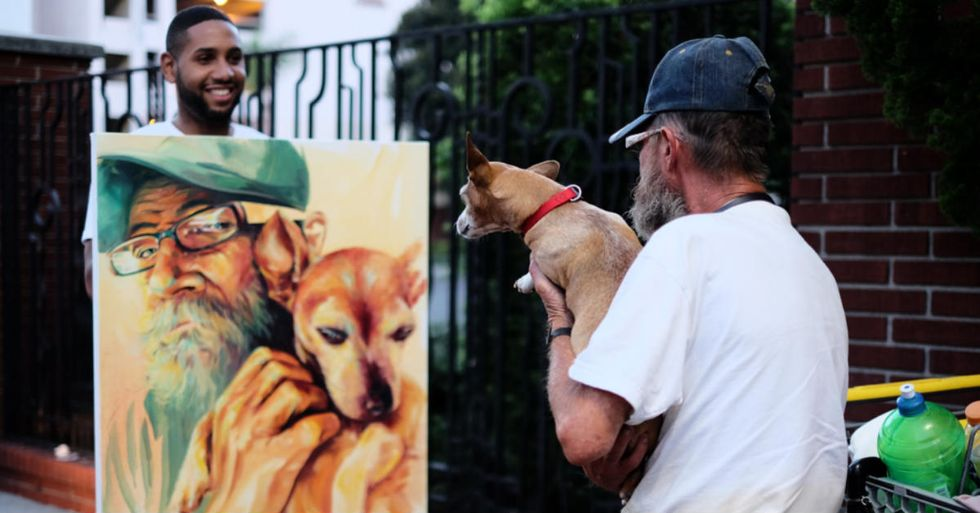 Meet the Artist Who Paints and Sells Pictures of the Homeless for a Great Reason