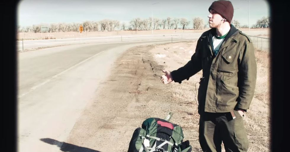 This Guy Hitchhiked to 100 Cities in 3 Years Off the Kindness of Strangers