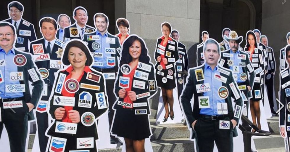 California Ballot Initiative Would Force Lawmakers to Wear the Logos of Their Corporate Donors