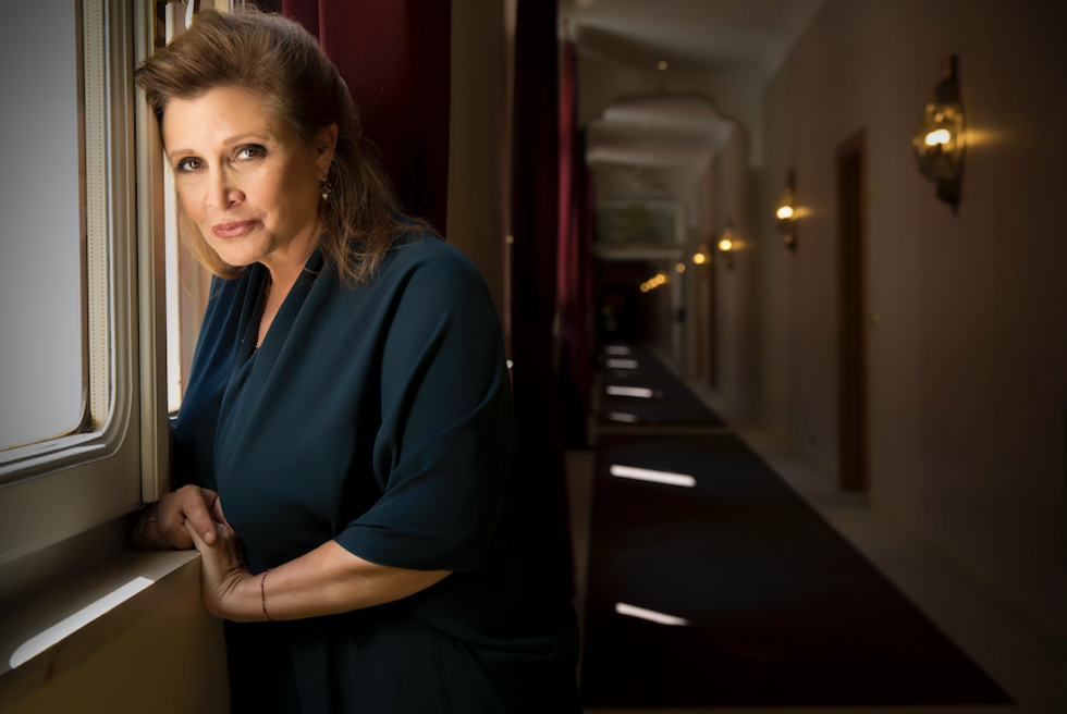Carrie Fisher Is Not Going to Take Your Internet Body Shaming