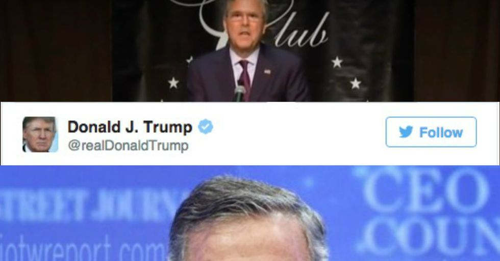 Trump Responds to Bush's Challenge By Tweeting Out Embarrassing Photo