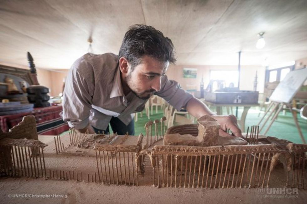 These Syrian Refugees Recreated Lost Monuments of Their Homeland—in Miniature