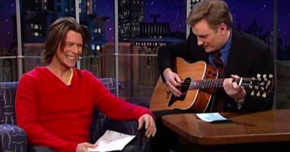 Conan O'Brien Looks Back at David Bowie's Sense of Humor