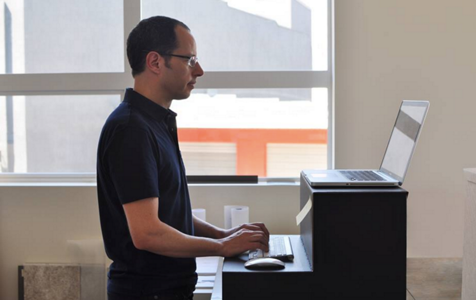 Save Those New Years' Resolutions With This $25 Standing Desk