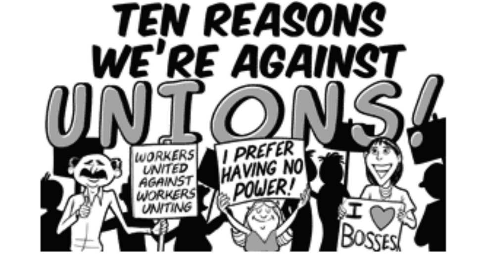 The 10 Silliest Arguments Against Unions in One 10-Panel Cartoon
