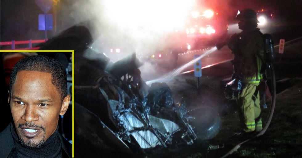 Breaking: Jamie Foxx Saves Stranger From Burning Car