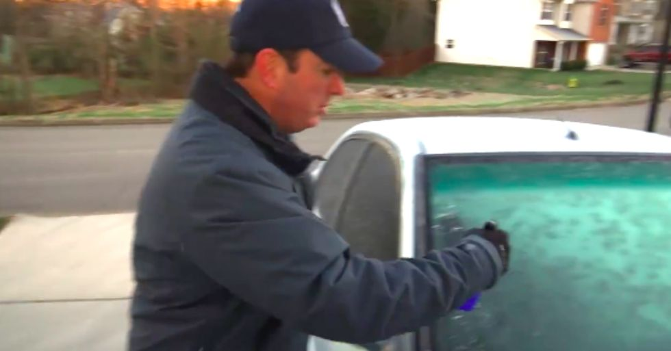 You'll Never Have to Scrape a Frozen Windshield Again After Seeing This