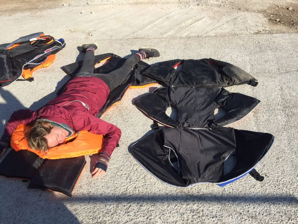 Activists Turn Discarded Life Vests Into Mattresses for Refugees