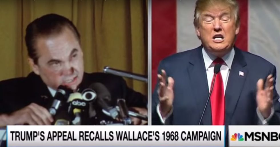 Rachel Maddow Looked at Old Footage of George Wallace … Is Trump Borrowing From His Campaign?