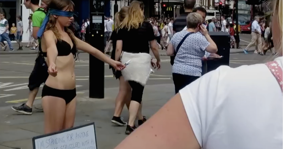She Offered Her Body as a Canvas for Passing Strangers to Make a Point. It Worked Beautifully