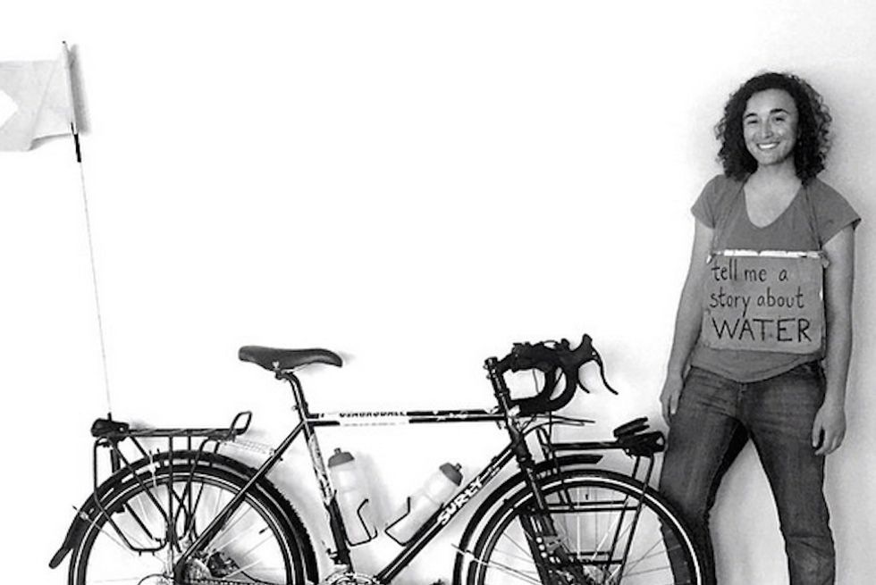 This Woman Is Biking Across the World to Collect Stories of Climate Change