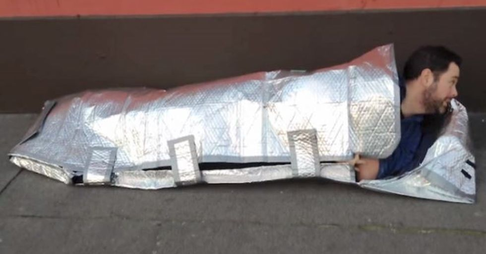 15-Year-Old Girl Invents Sleeping Bags That Keep the Homeless Safe