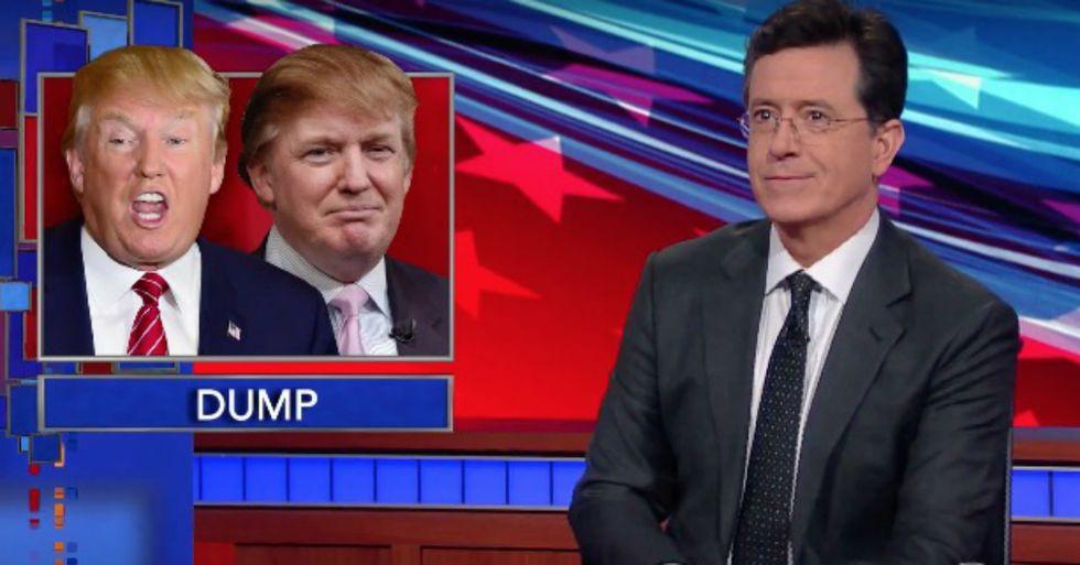 Stephen Colbert Moderates an All-Trump Debate