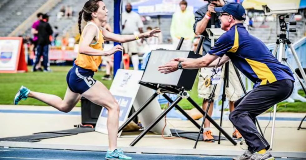 When She Hit the Finish Line, Her Coach Had to Catch Her in His Arms—Every Time