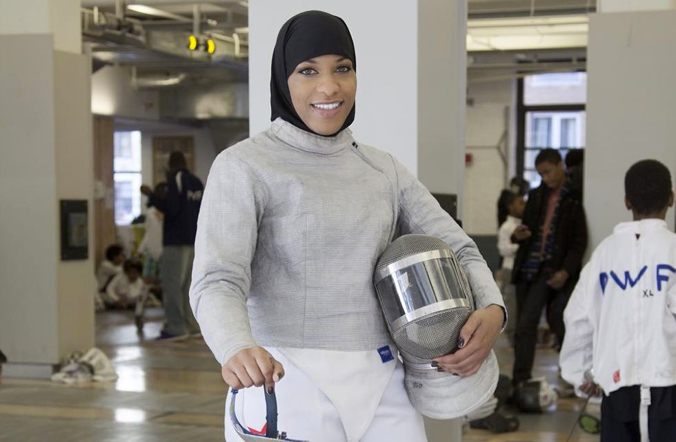 Meet the First Muslim American Olympian to Compete in a Hijab
