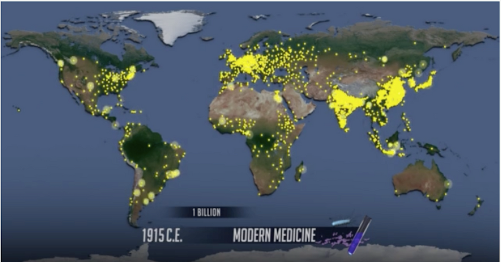 Each of the Little Yellow Dots on This Map? 1 Million People