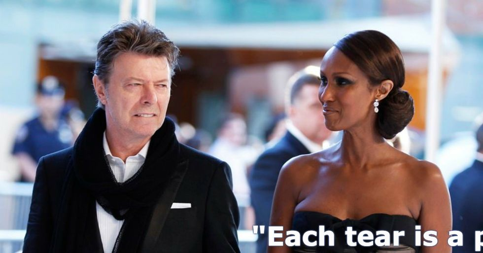 Iman Shares an Inspiring Quote a Month After David Bowie's Death