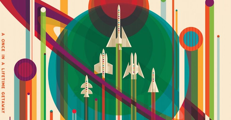 Check out these gorgeous posters promoting the future of space travel