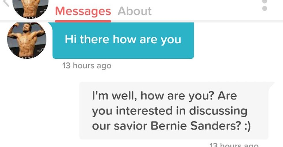 Some Women Are Campaigning for Bernie on Tinder