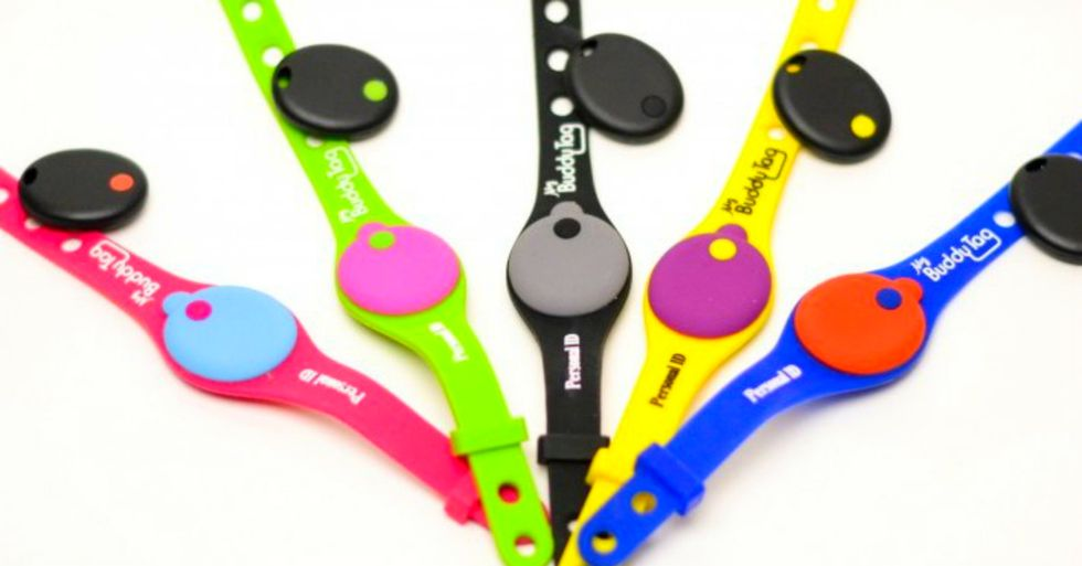 After a child went missing, someone invented a wristband that helps prevent abductions