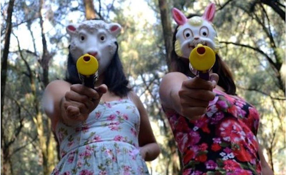 Las Hijas de Violencia, a Female Punk Group, Battles Catcalls With Confetti