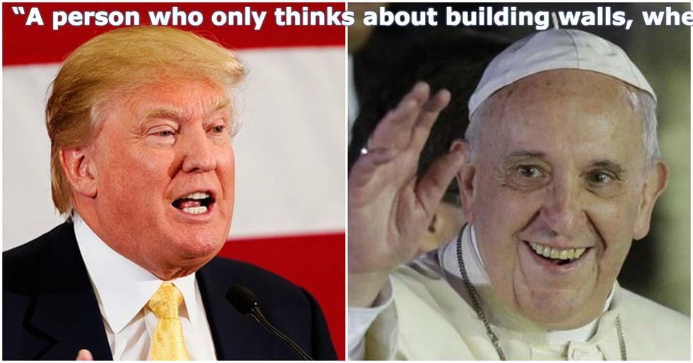 The Pope, the Donald, and the Wall