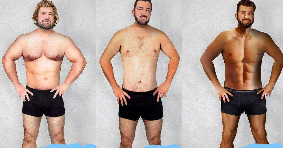 19 Countries Photoshopped One Man to Fit Their Idea of the Perfect Body