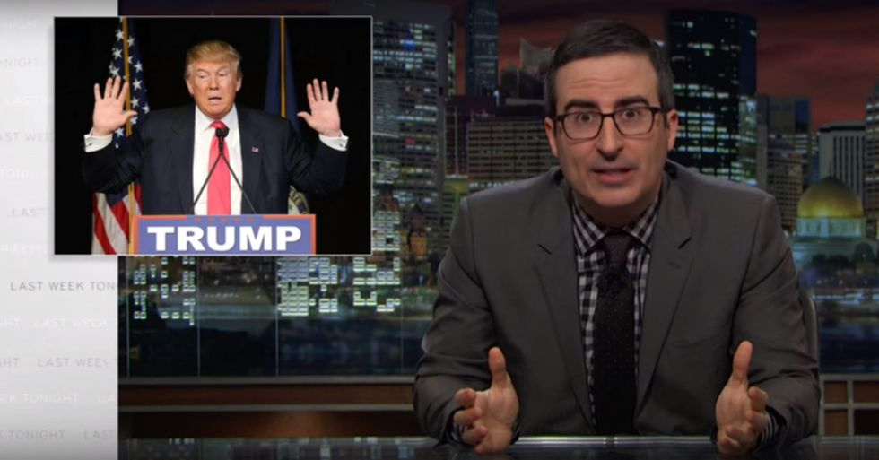 John Oliver Wants to Make Trump 'Donald Drumpf' Again
