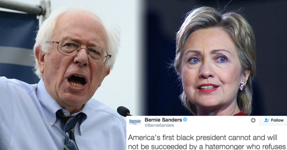 Bernie and Hillary Come Together After Trump Refuses to Disavow the KKK