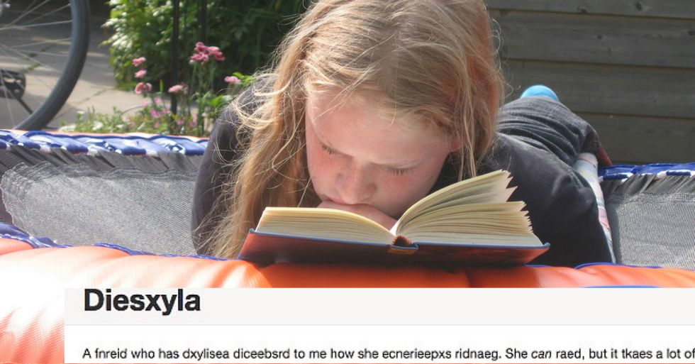 Programmer Creates Post That Shows What It's Like to Have Dyslexia