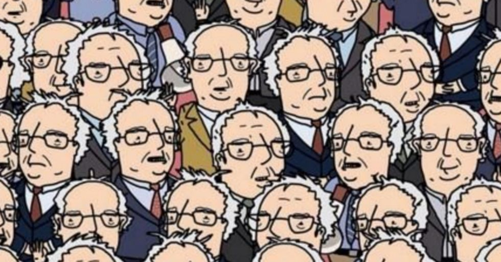 Can You Find Doc Brown in a Sea of Bernie Sanders?
