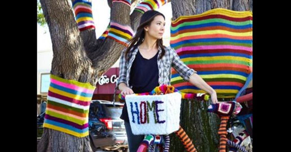 Michelle Villemaire 'Yarn-Bombs' for Women's History Month