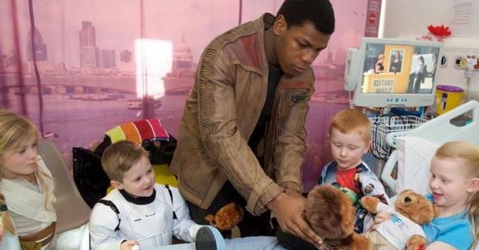 John Boyega Visits the London Royal Hospital