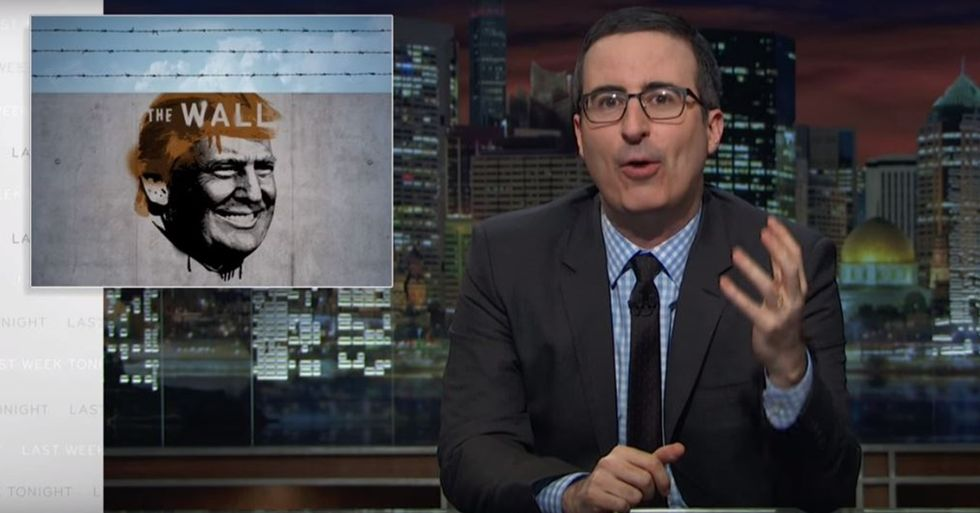 John Oliver Destroys Donald Trump's Plan to Build a Wall on the U.S.-Mexico Border