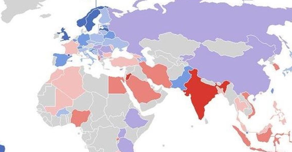 The World Value Survey's Map of Worldwide Racial Intolerance