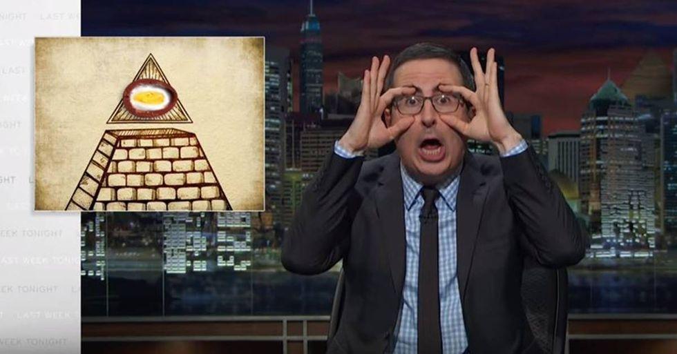 John Oliver Connects Cadbury Eggs to the Illuminati