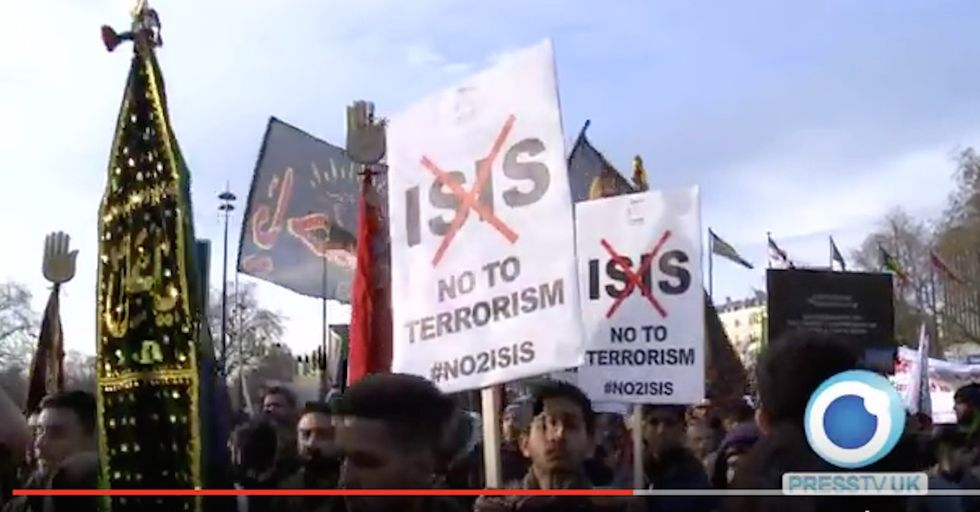 Muslims March Against Isis in London, and It's Ignored by the Media