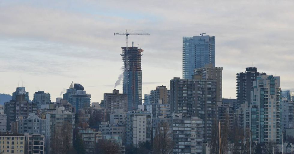 Man Flies Mexican Flag From Trump Tower in Vancouver